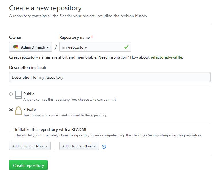 Screen capture of GitHub