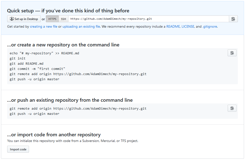Screen capture of GitHub user interface.
