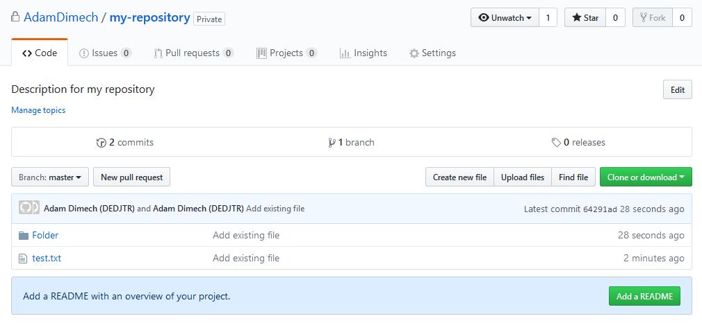 Screen capture of GitHub website.